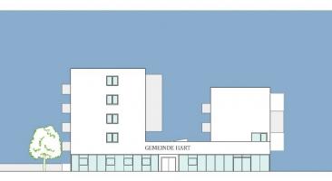 Wettbewerb Gemeindeamt mit Wohnbebauung, Hart bei Thal